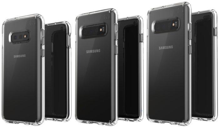 Galaxy S10E, S10 и S10+ в объективе проидводителя чехлов