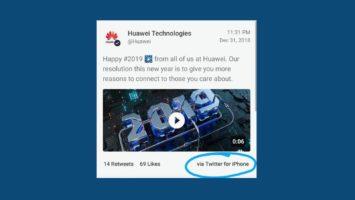 Сотрудники Huawei, опубликовавшие твит с iPhone, были наказаны компанией