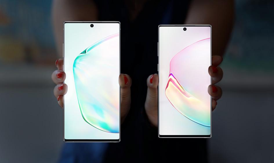 Samsung выпустила Galaxy Note 10 и Note 10+ с еще большим дисплеем